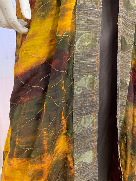 Long one of a kind Sari Silk #4