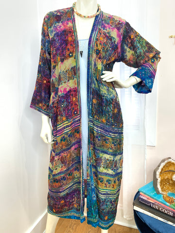 Long one of a kind Sari Silk #5