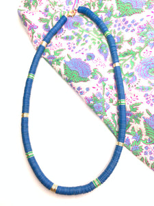Blue and Green Vinyl Necklace