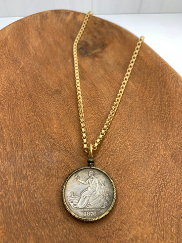 Rolo Chain with Coin Pendant