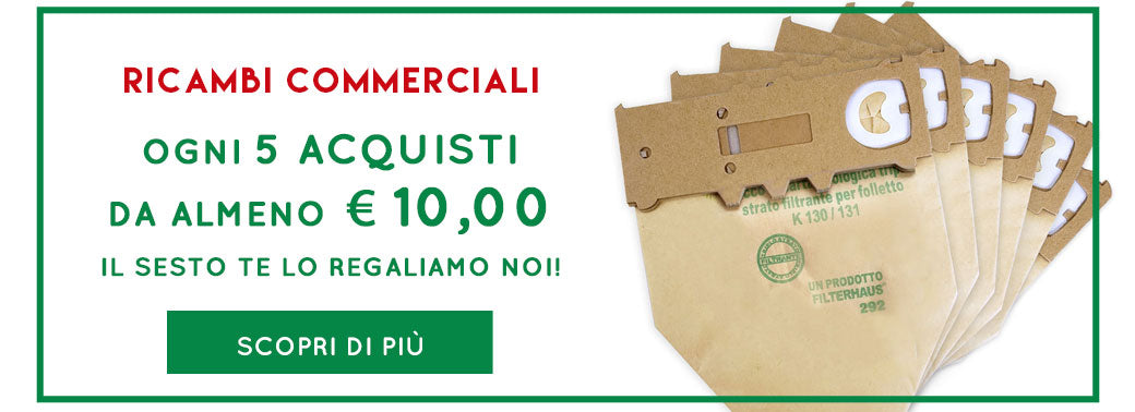 Promo Ricambi Commerciali Folletto