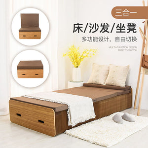 2019 New Product Creative Design Folding Bed Paper Bed Paper Chair Folding Kraft Paper Bed , Stretch Bed ( Free Mattress)