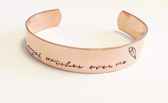 Cuff bracelet - Copper bracelet - Hand stamped - Thewisecopper-gifts for everyone....