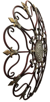 Fabulous Metal Wall Decor With Intricate Design, Bronze