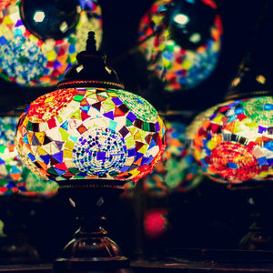 Handmade Stained Glass Mosaic Lamps