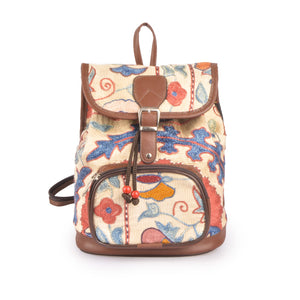 lost in Amsterdam bag | silk embroidered backpack | handwoven handmade in Turkey