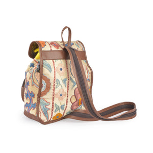 Beautiful Floral Silk Embroidered Kilim Backpack | 1300