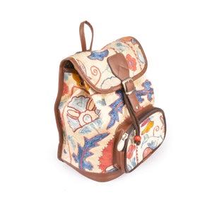 Floral Silk Embroided Kilim Backpack Lost in Amsterdam