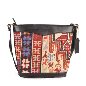 Embroidered Kilim Handbag - Traditional Turkish Motifs - Lost in Amsterdam - Handmade handwoven - Protection luck strength