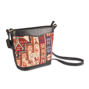 Embroidered Kilim Handbag - Traditional Turkish Motifs | 1303