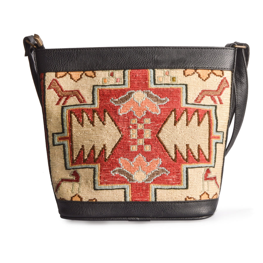 Original Lost in Amsterdam Handmade Handwoven Traditional Turkish Kilim Bucket Bag/Handbag