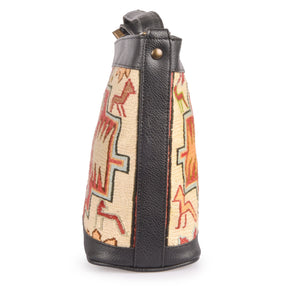 Handmade Turkish Kilim Bucket Bag | 1305