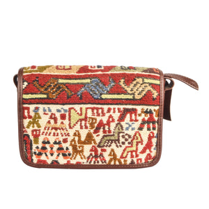 Original Lost in Amsterdam Mini Satchel Bag Handbag Handmade with Traditional Turkish Organic Wool Kilim