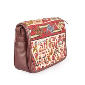 Handmade Turkish Kilim Mini Satchel Bag | 1306