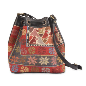 Turkish Kilim Bucket Bag | 1307