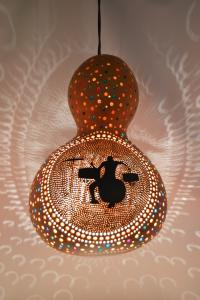 Unique handmade pumpkin lamp from Lost in Amsterdam