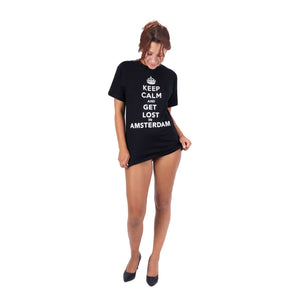 """Keep Calm & Get Lost in Amsterdam"" Boyfriend T-Shirt"