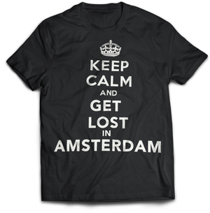 """Keep Calm & Get Lost in Amsterdam"" T-Shirt"