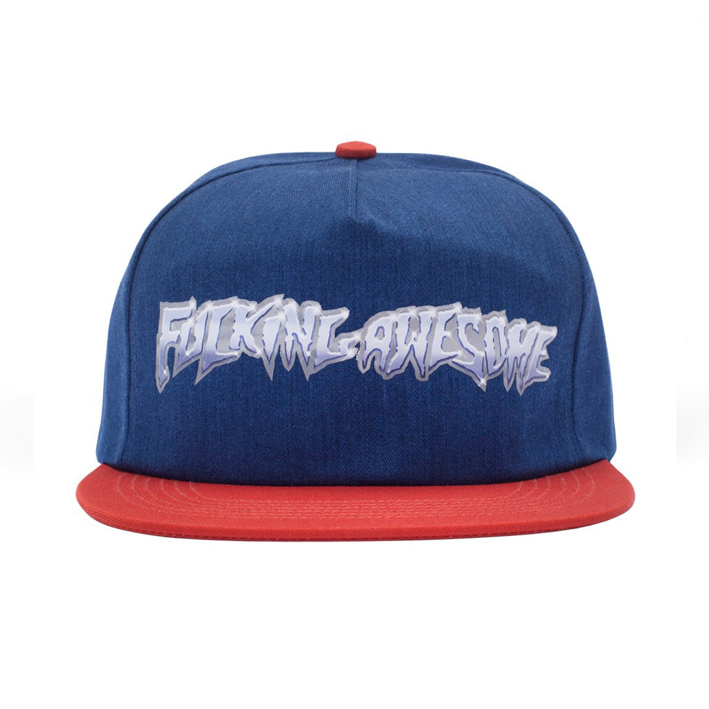 Fucking Awesome Cap - Chrome 5-panel navy/red - onesize