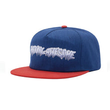 Load image into Gallery viewer, Fucking Awesome Cap - Chrome 5-panel navy/red - onesize