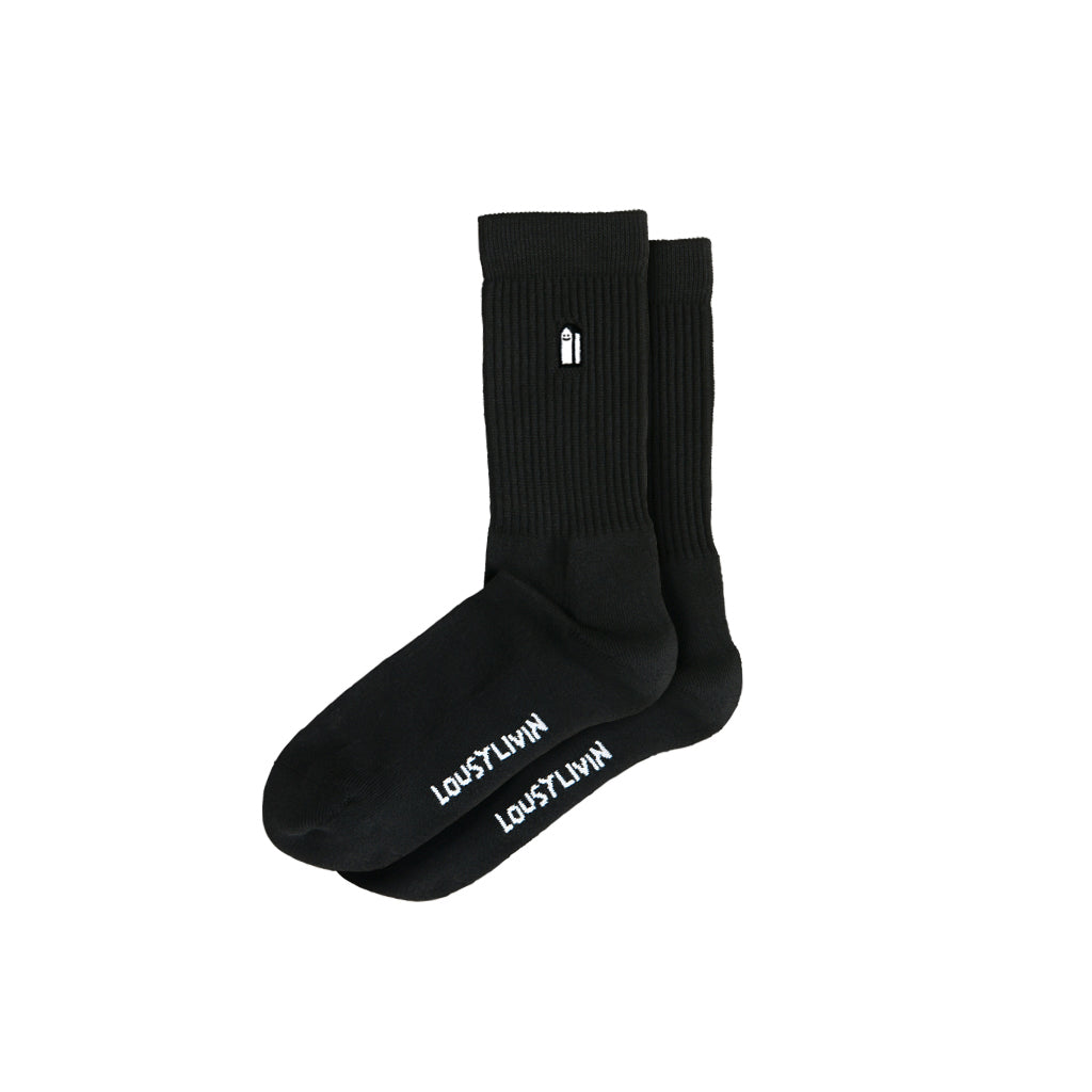 Lousy Livin Socks - Street Court Black