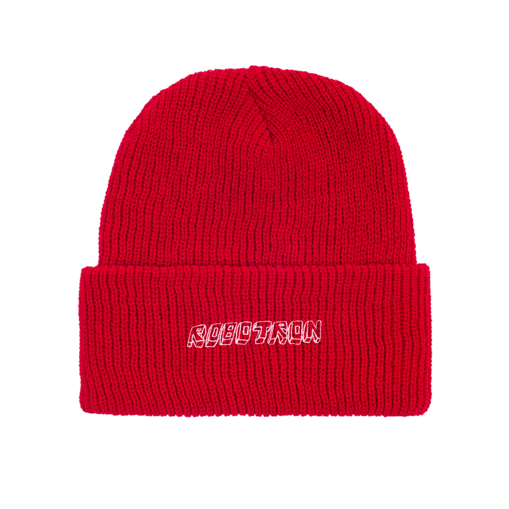 Robotron Beanie - Slouch - red