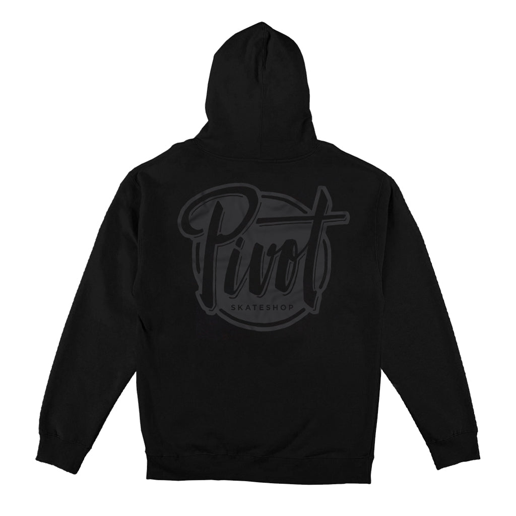Pivot - Hooded - Logo - black
