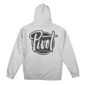 Pivot Skateshop - Hood Logo - heather grey