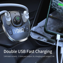 Load image into Gallery viewer, Essager USB Car Charger (Bluetooth , FM , MP3 Player )