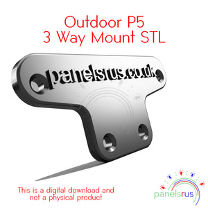 3 Way Mount for P5 Outdoor Panels - STL File