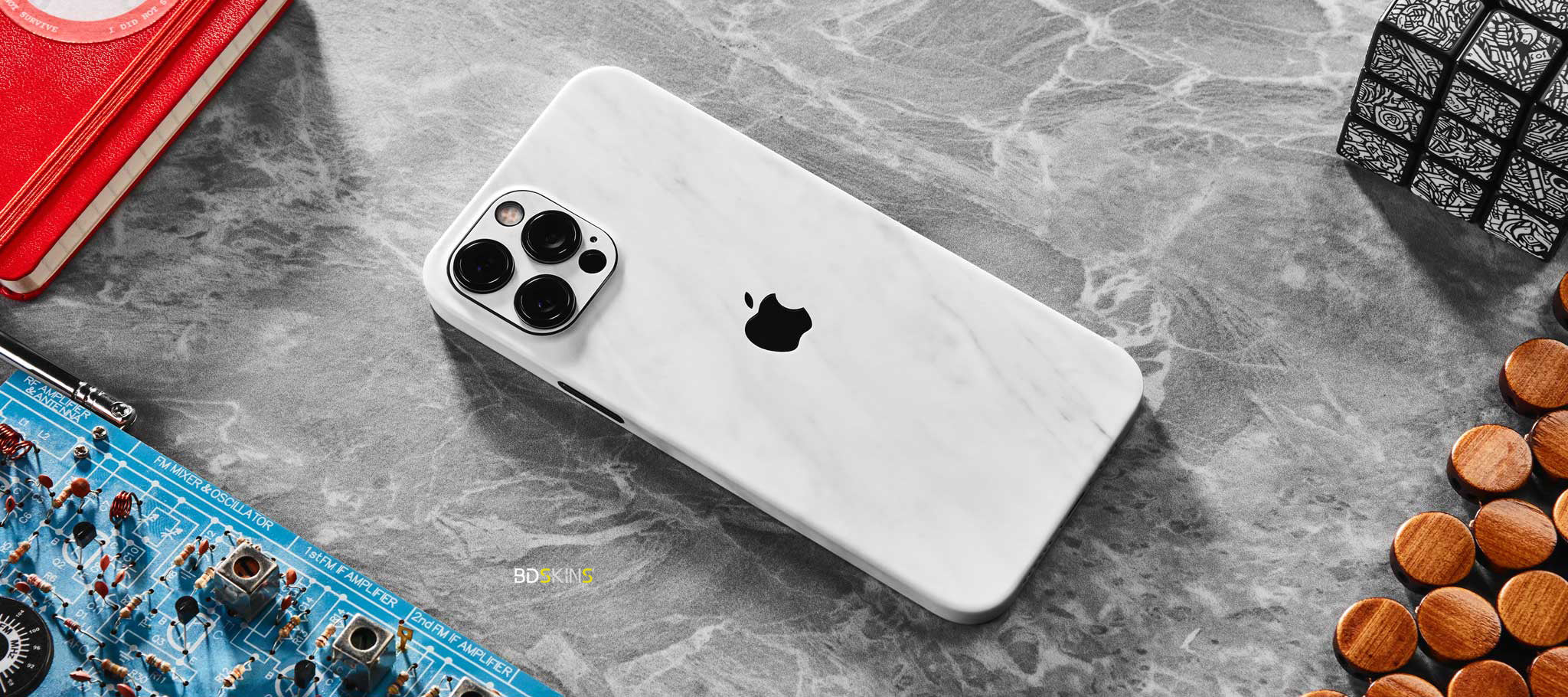 iPhone 12 Pro Max- White Marble Skin