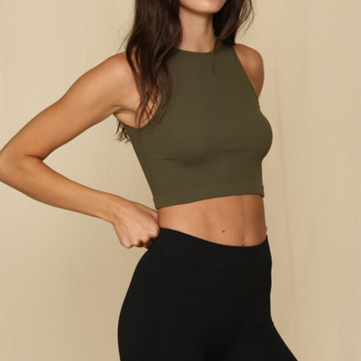 Seamless Ribbed Crop