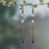 Crystal Paddle Earrings