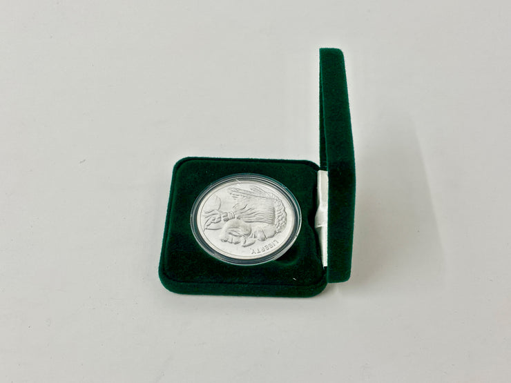 COIN BOX - SINGLE 1oz ROUND - (GREEN)