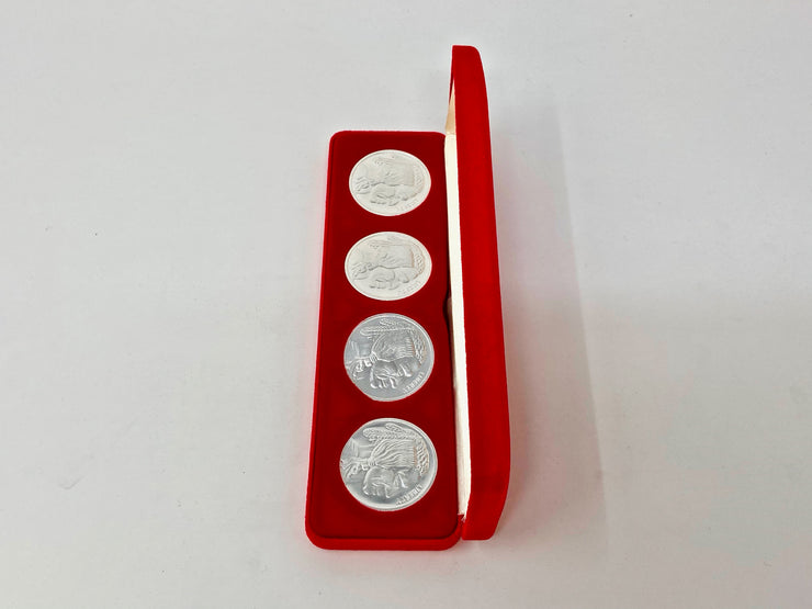 COIN BOX - 4 1oz ROUNDS - (RED)