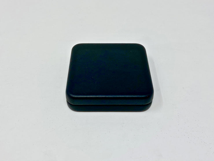 COIN BOX - SINGLE 1oz ROUND - (BLACK-LEATHER)