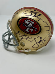 49ER GENUINE XLV11 SUPERBOWL AUTO HELMET Gore Smith Crabtree Davis Kappernick