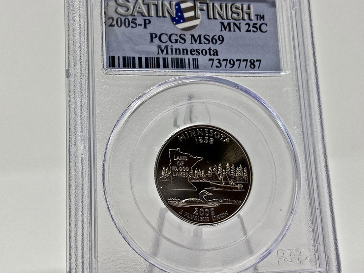 2005-P PCGS MS69 MINNESOTA QUARTER SATIN FINISH