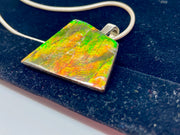 STERLING SILVER AND AMMOLITE PENDANT AND NECKLACE