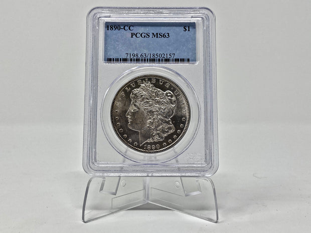1890 CARSON CITY MORGAN DOLLAR PCGS MS63 - BEAUTY - GREAT LUSTER