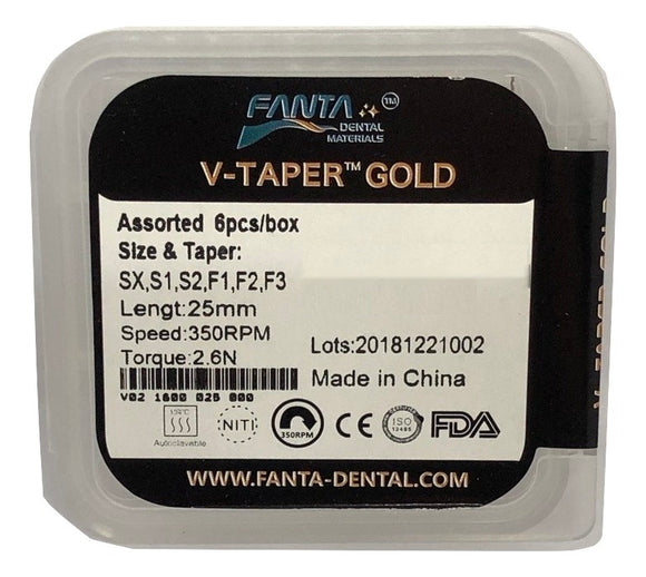 V TAPER GOLD ROTARY FILE - Dentsupply SIA