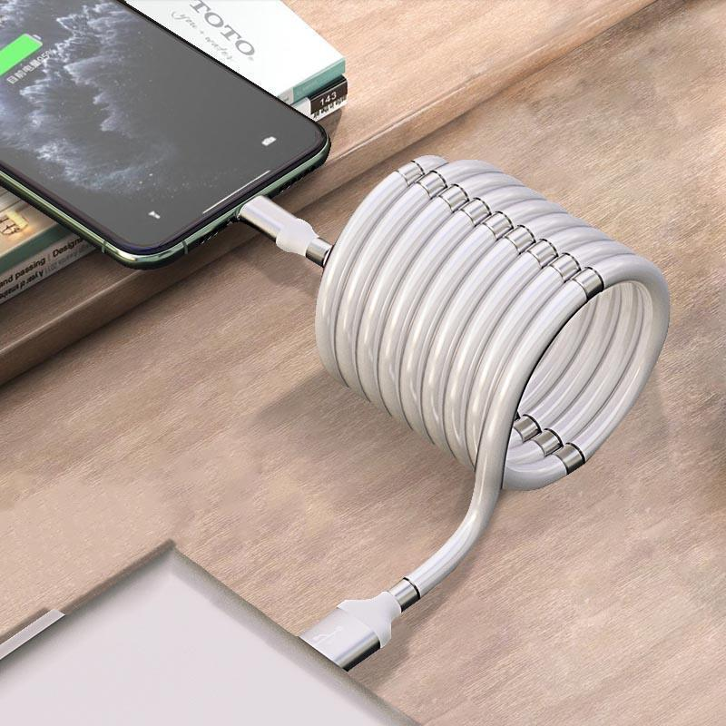 3 In1 Magnetic Absorption Data Charger Cable - Lightek