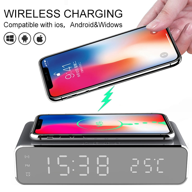 Lightek® Wireless Fast Charging & Alarm Clock! - Lightek