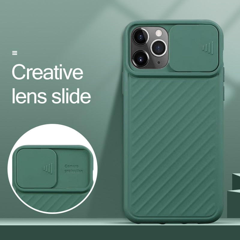 Slide Camera Protection iPhone Case - Lightek