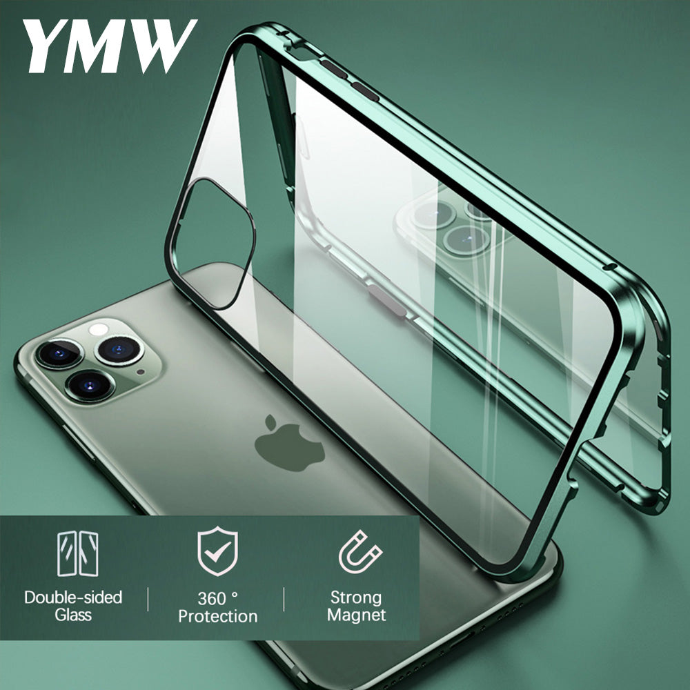 Tempered Glass Magnetic Case for iPhone - Lightek