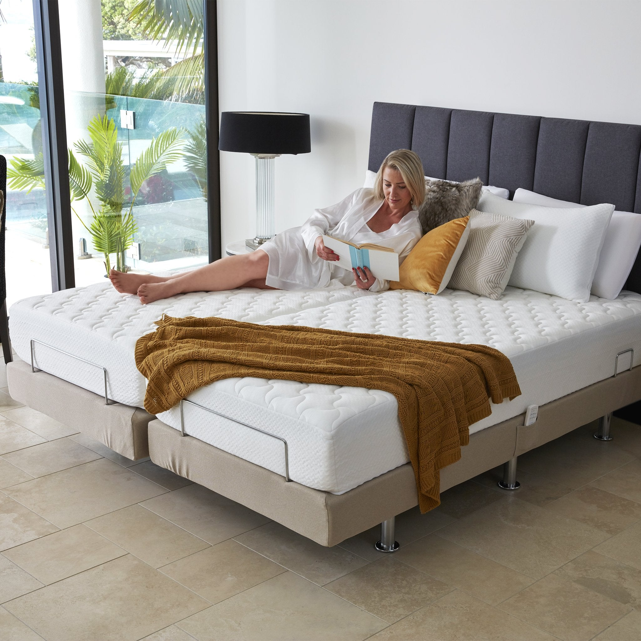 Picture of: Perfect Fit Adjustable Massage Bed Split King Bambillo Nz