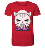 Angry Kitty - Fuck Corona T-Shirt - Organic Shirt - Comics N'More