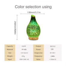 Load image into Gallery viewer, Glass fireworks effect essential oil diffuser
