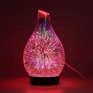 Glass fireworks effect essential oil diffuser