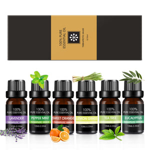 Essential Oils Set - Top 6 100% Pure Organic Therapeutic Grade Aromatherapy Oil Gift kit for Diffuser